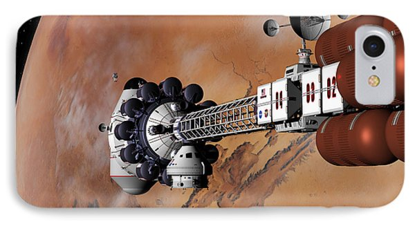 IPhone Case featuring the digital art Ares1 Captured Over Valles Marineris by David Robinson