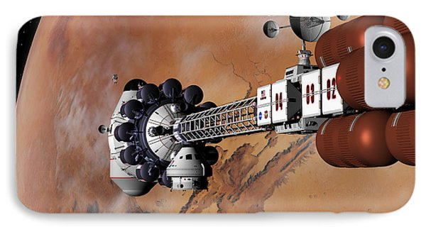 Ares1 Captured Over Valles Marineris IPhone Case by David Robinson