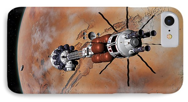 Ares1 Within Range For Rendezvous IPhone Case by David Robinson