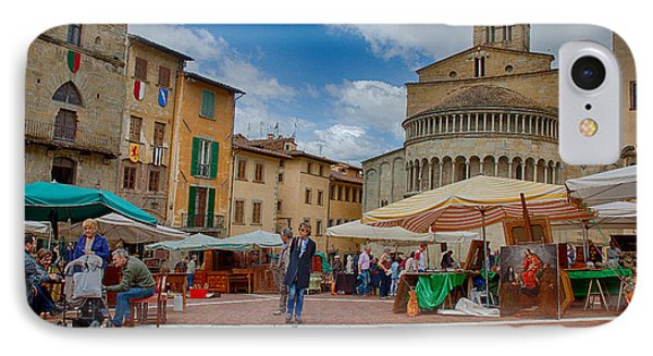 IPhone Case featuring the photograph Arezzo Market Day by Uri Baruch
