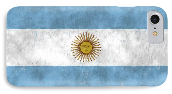 Argentina Flag Phone Case by World Art Prints And Designs