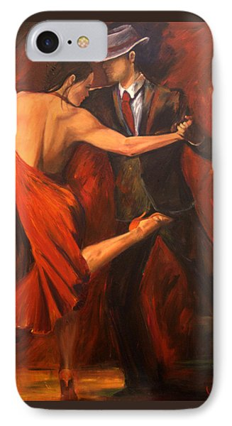 IPhone Case featuring the painting Argentine Tango by Sheri  Chakamian