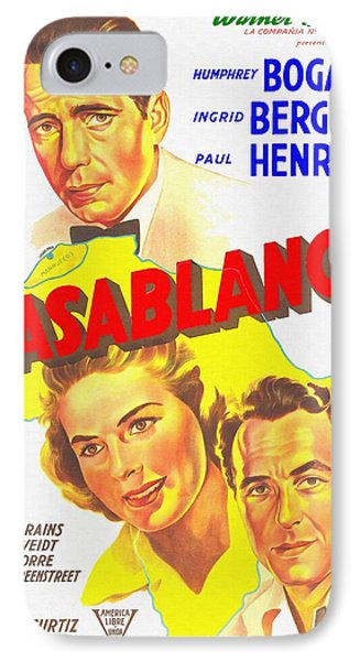 Argentinian Poster Of Casablanca IPhone Case