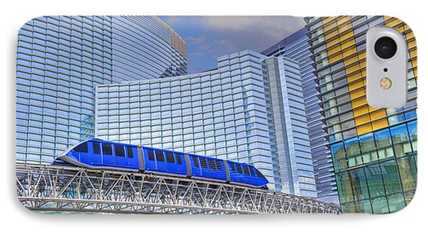 Aria Las Vegas Nevada Hotel And Casino Tram  IPhone Case by David Zanzinger
