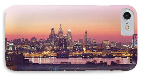 Arial View Of The City At Twilight IPhone Case by Panoramic Images