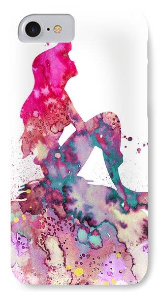 Mermaid iPhone 7 Case - Ariel 2 by Watercolor Girl