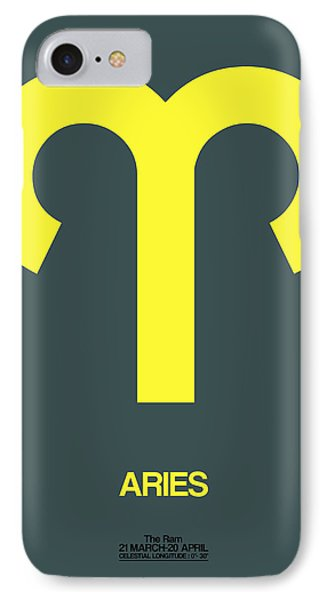 Aries Zodiac Sign Yellow IPhone Case