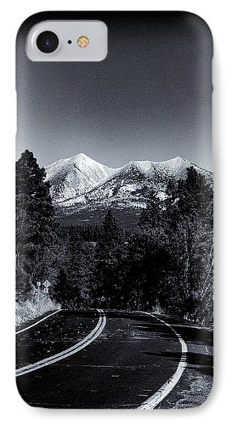 Arizona Country Road In Black And White IPhone Case by Joshua House