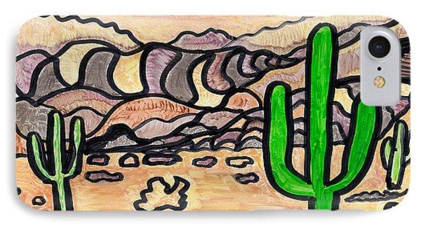 IPhone Case featuring the drawing Arizona  by Don Koester