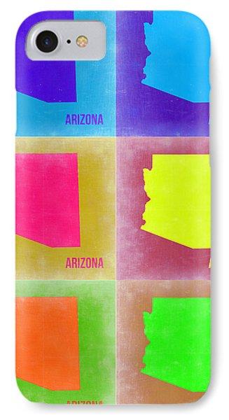 Arizona Pop Art Map 4 Phone Case by Naxart Studio