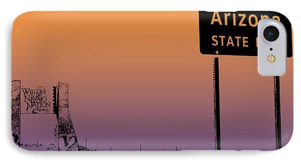 Arizona State Line Usa Phone Case by Janice Rae Pariza