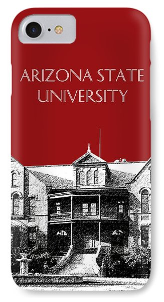 Arizona State University - The Old Main Building - Dark Red IPhone Case by DB Artist