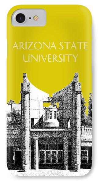 Arizona State University 2 - Hayden Library - Mustard Yellow Phone Case by DB Artist