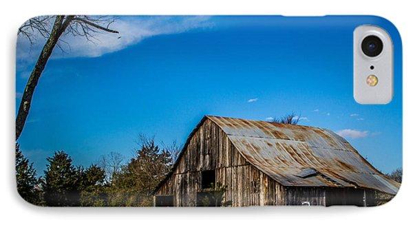 Arkansas Barn And Blue Skies Phone Case by Jim McCain