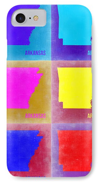 Arkansas Pop Art Map 2 IPhone Case by Naxart Studio