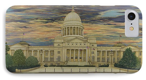 Arkansas State Capitol Phone Case by Mary Ann King