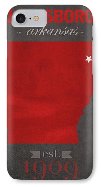 Arkansas State University Red Wolves Jonesboro College Town State Map Poster Series No 014 IPhone Case by Design Turnpike