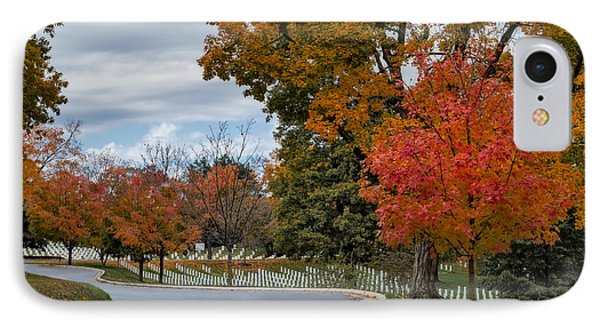 Arlington National Cemetery In Autumn IPhone Case by Susan Candelario