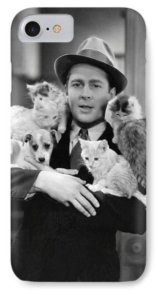 Armful Of Cats And Dogs IPhone Case by Underwood Archives
