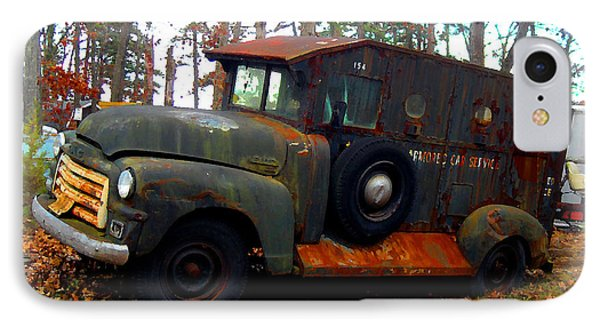IPhone Case featuring the digital art Armored Car Service by K Scott Teeters