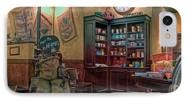 IPhone Case featuring the photograph Aromas Coffee Shop Newport News Virginia by Jerry Gammon
