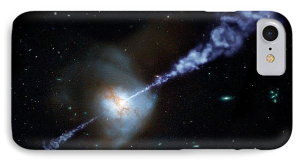 Arp 220 Galaxy IPhone Case by Nasa/jpl-caltech