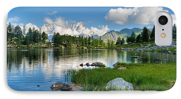 IPhone Case featuring the photograph Arpy Lake - Aosta Valley by Antonio Scarpi