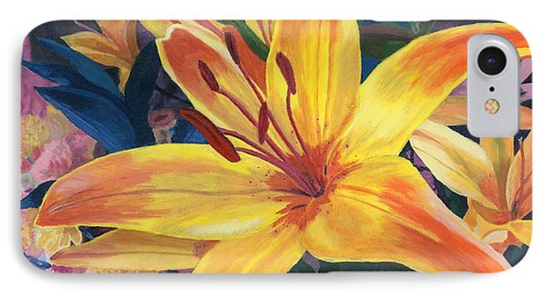 Arranging Lily IPhone Case by Lynne Reichhart