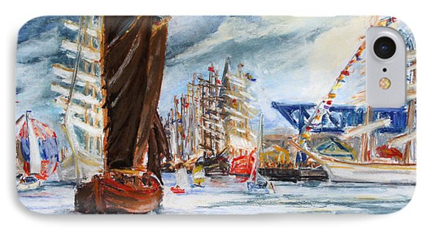 Arrival At The Hanse Sail Rostock Phone Case by Barbara Pommerenke
