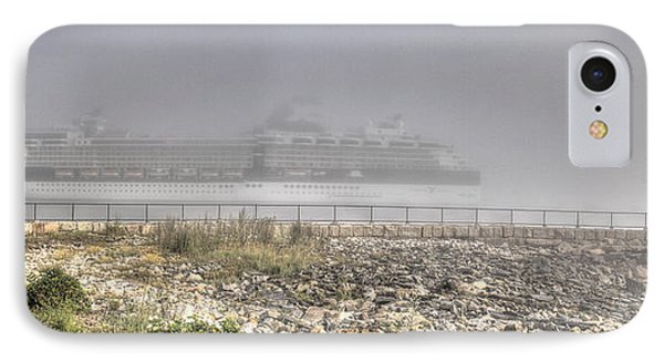 IPhone Case featuring the photograph Arrival In The Fog by David Bishop