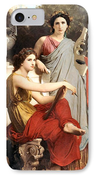 Art And Literature Phone Case by William Bouguereau
