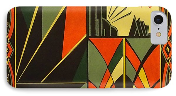 Art deco in orange painting by emma childs for Art deco colours for painting