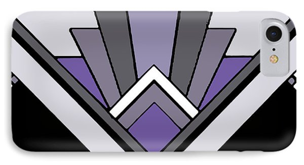 Art Deco Pattern Two - Purple IPhone Case by Chuck Staley