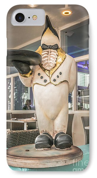 Art Deco Penguin Waiter South Beach Miami - Hdr Style IPhone Case