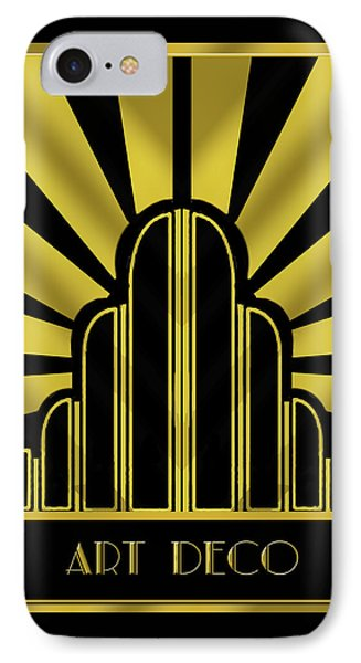 Art Deco Poster - Title IPhone Case by Chuck Staley