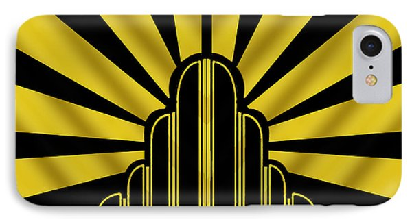 Art Deco Poster - Two IPhone Case by Chuck Staley
