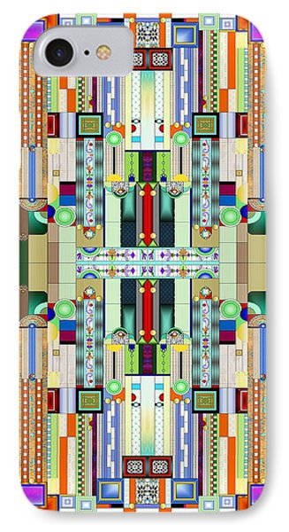 Art Deco Stained Glass 2 IPhone Case by Ellen Henneke
