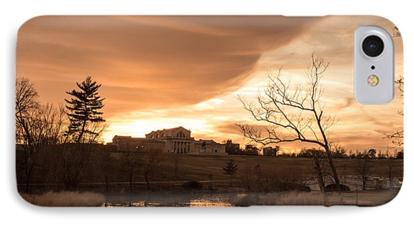 Art Hill Winter Sunset IPhone Case