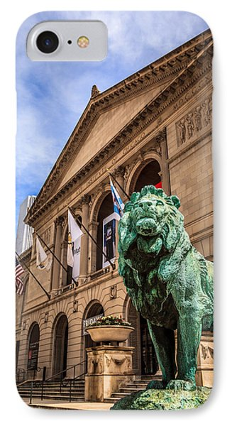 Art Institute Of Chicago Lion Statue Phone Case by Paul Velgos