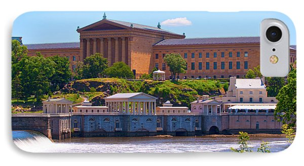 Art Museum And Fairmount Waterworks - Hdr IPhone Case by Lou Ford