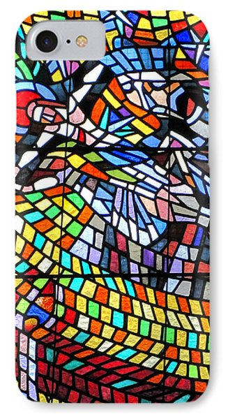 Art Nouveau Stained Glass Windows Ss Vitus Cathedral Prague Phone Case by Christine Till