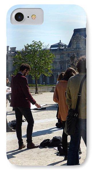 Art Students In The Tuileries Of Paris IPhone Case by Susan Alvaro