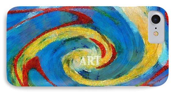 Art Swirl IPhone Case by Dan Sproul