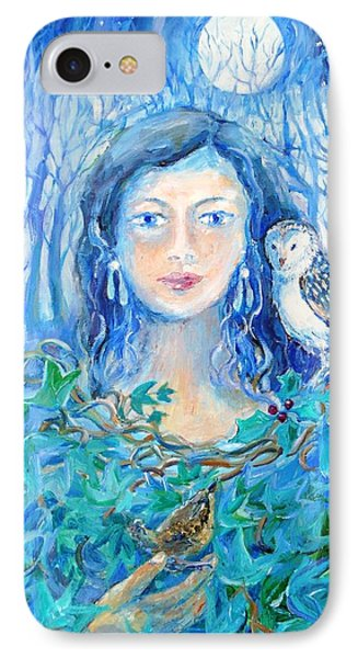 Artemis And The Wren- IPhone Case by Trudi Doyle