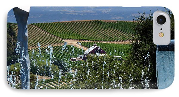 Artesa Vineyards And Winery IPhone Case by Jeff Lowe