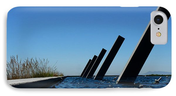 Artesa Winery Sculpture Pond IPhone Case by Jeff Lowe