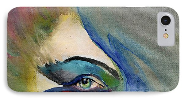 IPhone Case featuring the painting Artful Eye Of Mine by Maja Sokolowska