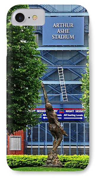 Arthur Ashe Stadium Phone Case by Mike Martin