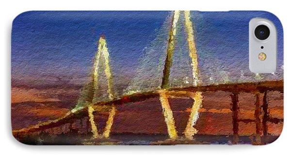 Arthur Ravenel Bridge At Evening  IPhone Case