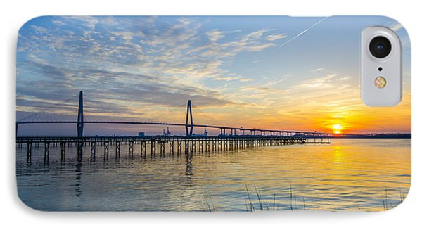 Calm Waters Over Charleston Sc IPhone Case by Dale Powell